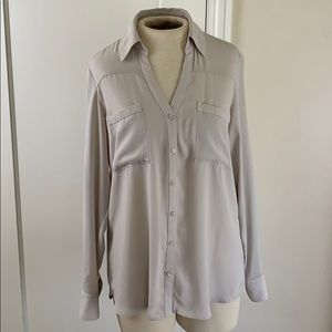 Express Portifino shirt beige solid color
